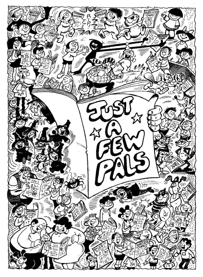Some of the many characters drawn or created by Terry, often with wife Shiela, down the decades. Art by Terry Bave