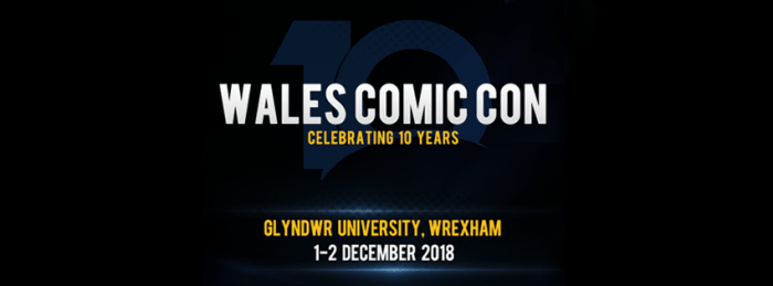 Wales Comic Con 2018 Banner