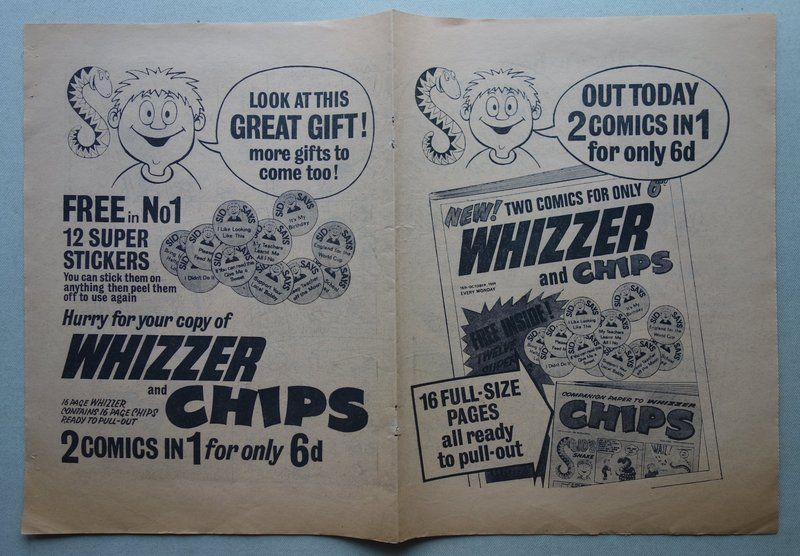Whizzer & Chips Issue one - Promotional flyer (1969)