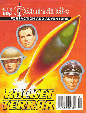 Sean Blair's first Commando, Issue 3133 - Rocket Terror, his first published script, Ian Kennedy cover and Gordon Livingstone art - blast off! Image © DC Thomson