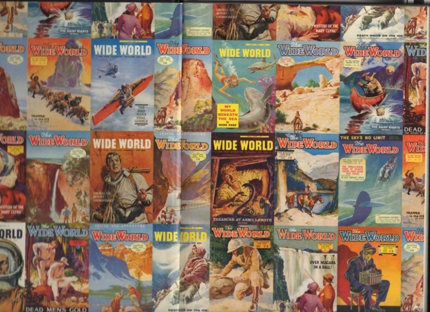 Examples of Wide World painted covers by various artists