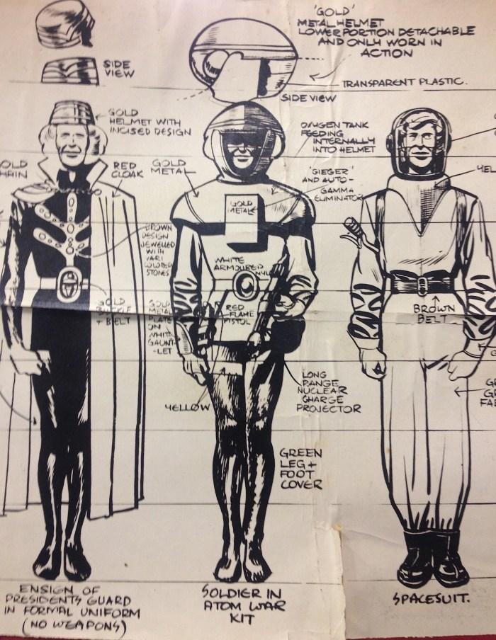 Dan Dare Concept art for the original Eagle