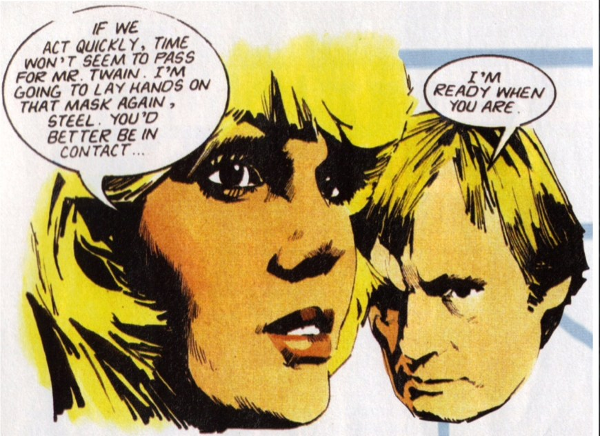 Sapphire and Steel, drawn by Arthur Ranson for the weekly comic Look-In