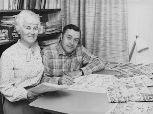 Cartoonist Terry Bave and wife Shiela In the 1970s