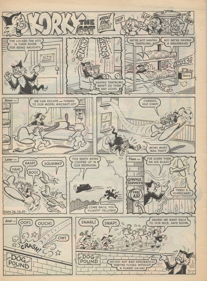 """Korky the Cat"" by Terry Bave for The Dandy © DC Thomson"