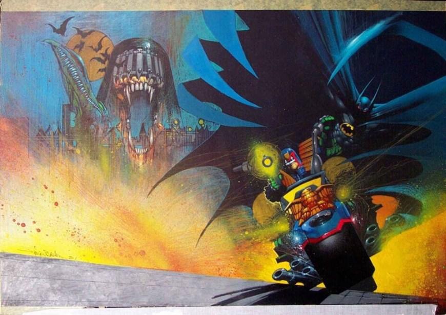 Batman vs Judge Dredd by Simon Bisley