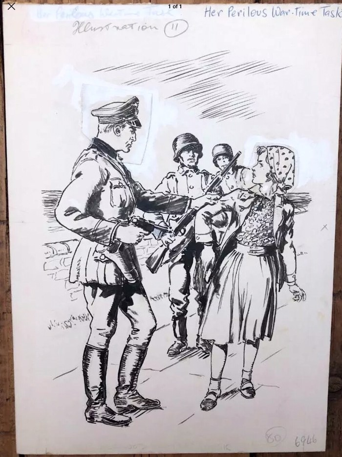 World War Two illustration attributed to Mike Hubbard