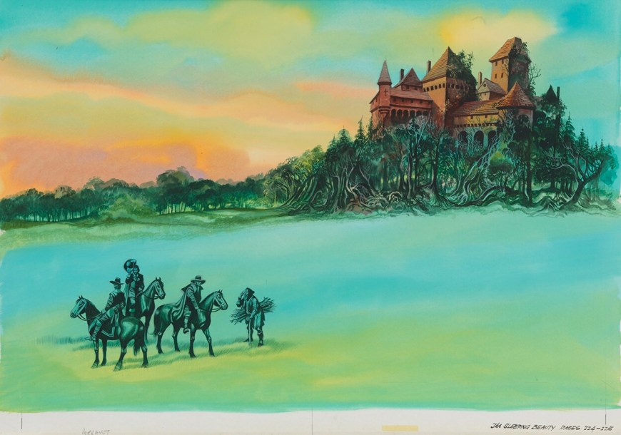 A charming painting by Ron Embleton, possibly used to illustrate the book Cinderella and The Sleeping Beauty (London, Collins, 1978)