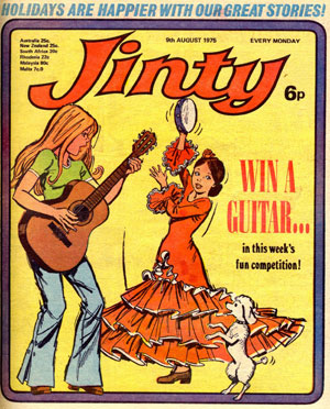 A cover for Jinty drawn by Phil (Cover kindly provided by Jenni Scott)