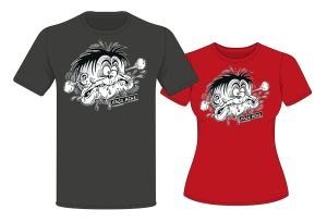 Available now - Treasury of British Comics - Faceache T-Shirts