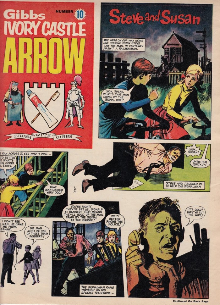 "The cover of Arrow comic Issue 10 featuring ""Steve and Susan"" drawn by John Michael Burns"