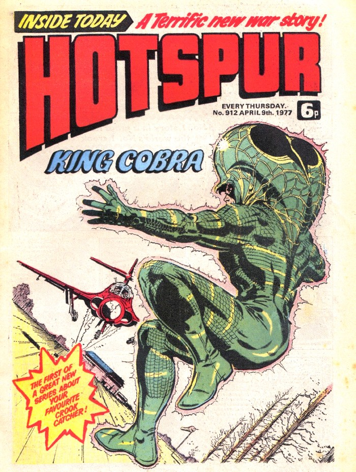 Hotspur 912 - King Cobra cover by Ron Smith