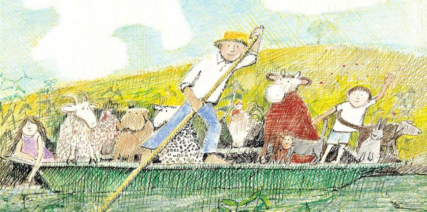 Art for Mr Gumpy's Outing by John Burningham