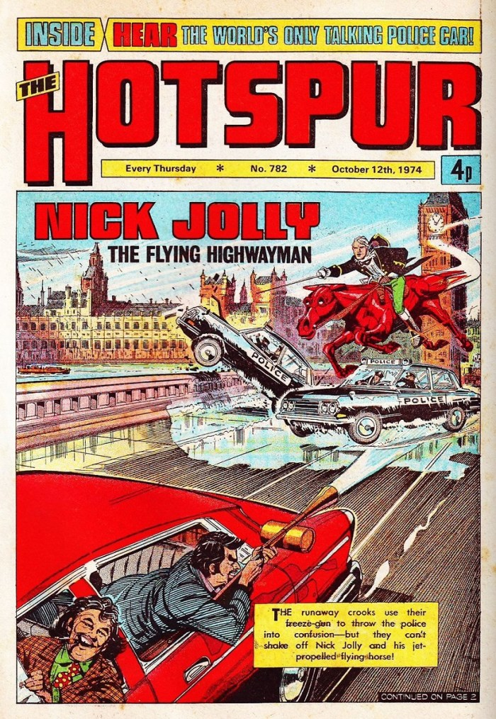 Nick Jolly 782 Hotspur - art by Ron Smith