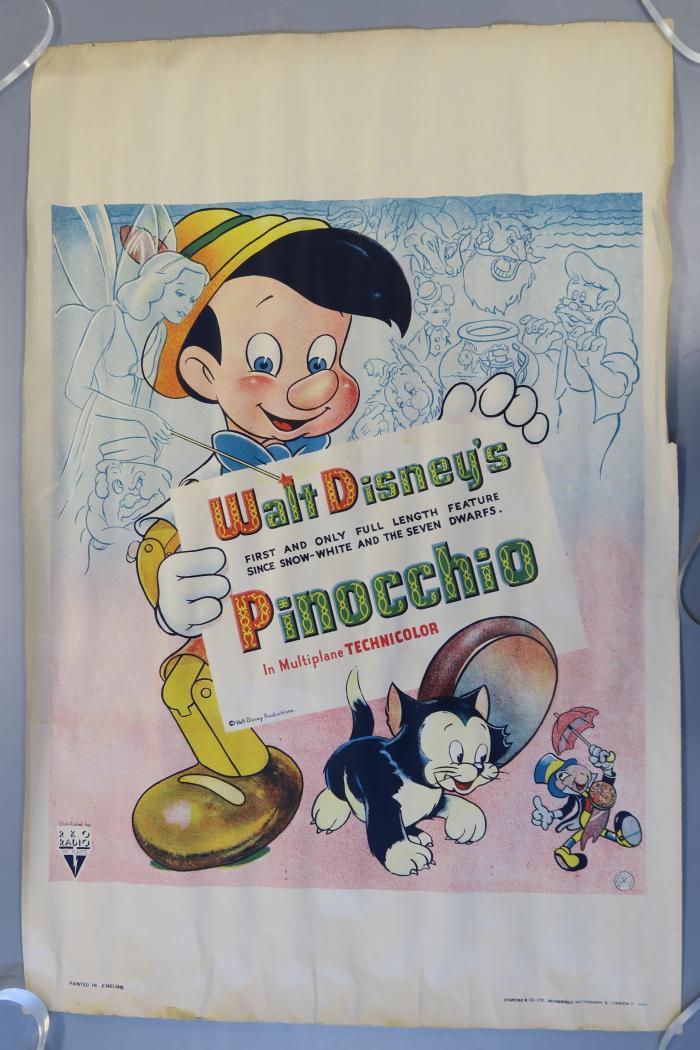 British Pinocchio Film Poster (1940)