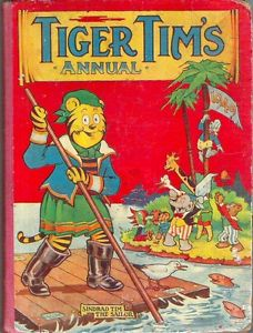 Tiger Tim first appeared in 1919, in Tiger Tim's Tales (soon changed to Tiger Tim Weekly), but the character's adventures continued to be published for decades © 2019 Rebellion Publishing Ltd