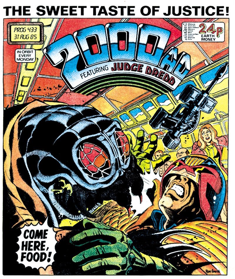 2000AD Prog 433 - Cover by Ron Smith