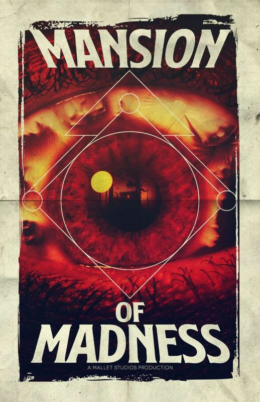 An original Mansion Of Madness promotional poster for the TV series, faithfully restored by Andi Ewington.
