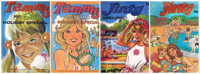 Some classic covers for some girls comics Holiday Specials from just some of the titles now owned by Rebellion © Rebellion Publishing Ltd