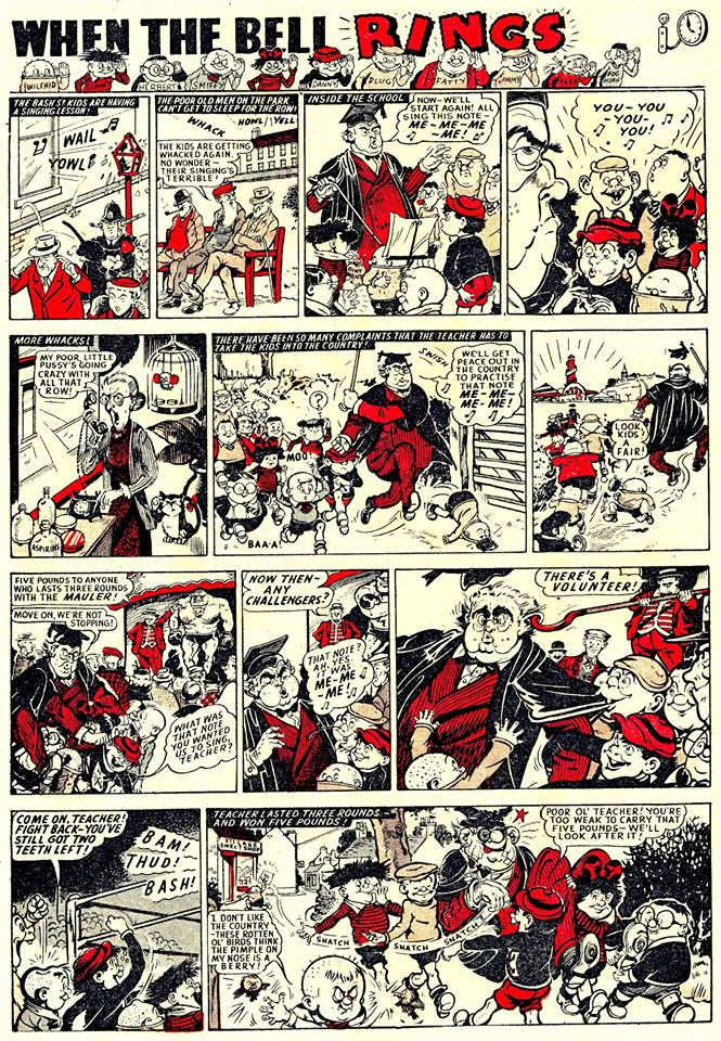 The last When the Bell Rings in the Beano No. 747 before it became The Bash Street Kids