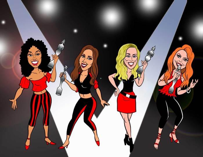 Little Mix, Beano-fied! . Art by Nigel Parkinson. Image courtesy Beano Studios