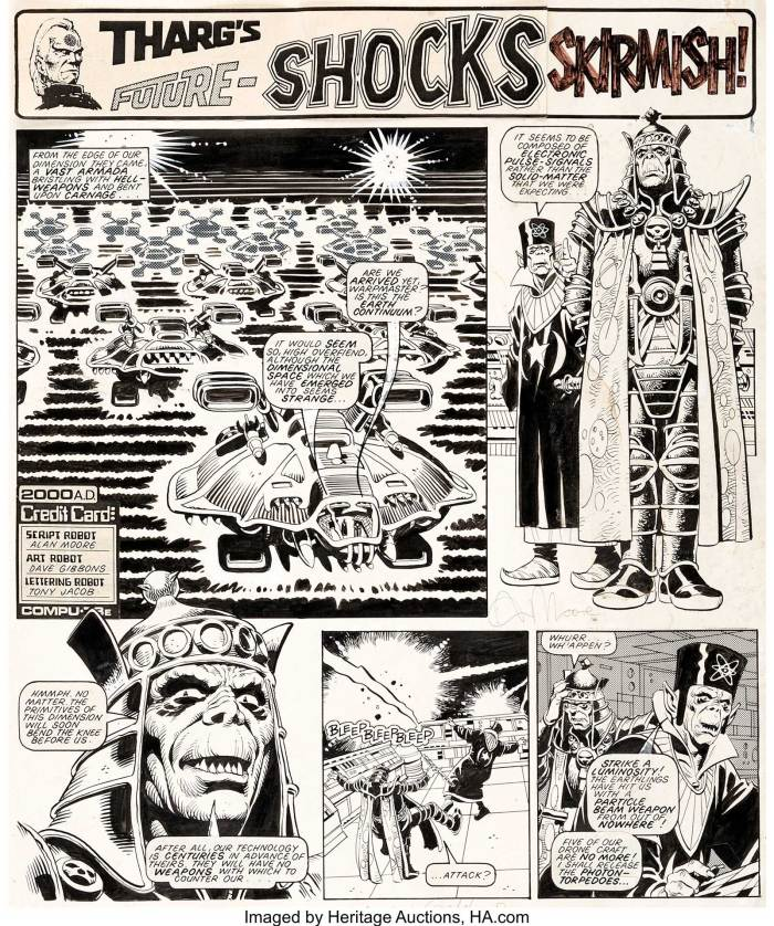 "Dave Gibbons 2000 AD #267 Complete 2-Page Story ""Skirmish!"" Original Art (IPC, 1982)"