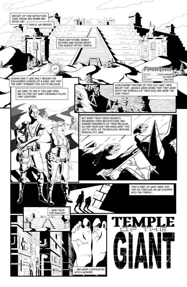 Temple of the Giant by writer Joshua Spiller and artist Mike Bunt. Letters by Bolt-01