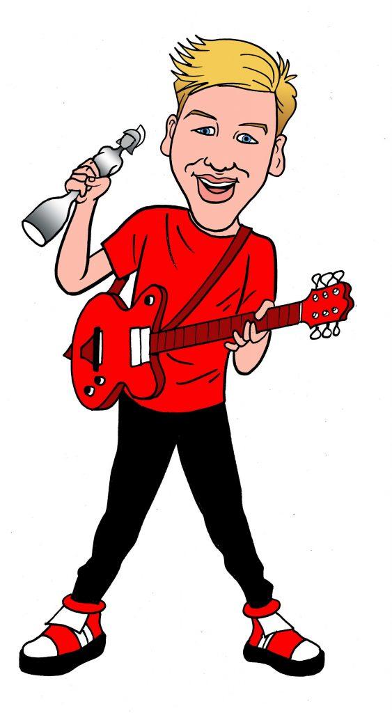 George Ezra. Art by Nigel Parkinson. Image courtesy Beano Studios