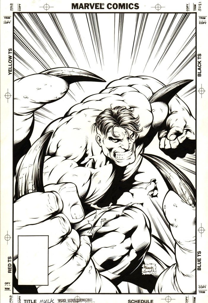 The cover of The Incredible Hulk #416, pencilled by Gary Frank, inked by Cam Smith © Marvel