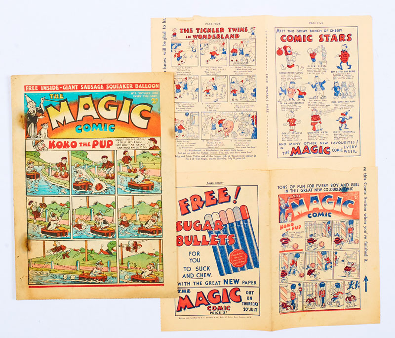 A rare copy of Magic Issue 2, published in 1939, offered with Magic No 1 and 2 Flyer eight page mini-comic