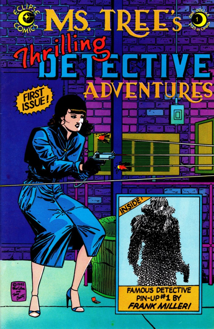 The cover of Ms. Tree #1, published back in  1983