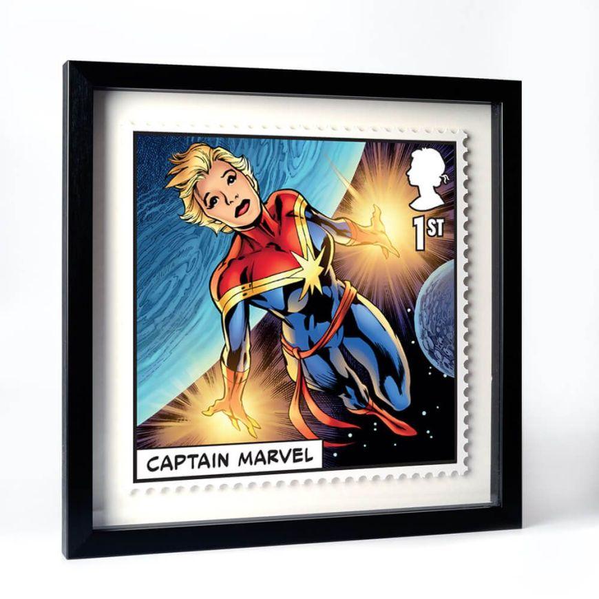 Royal Mail 2019 - Marvel Special Issue Stamps - Captain Marvel Framed Print
