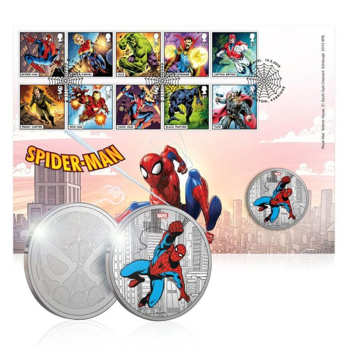 Royal Mail 2019 - Marvel Special Issue Stamps - Spider-Man Medal set