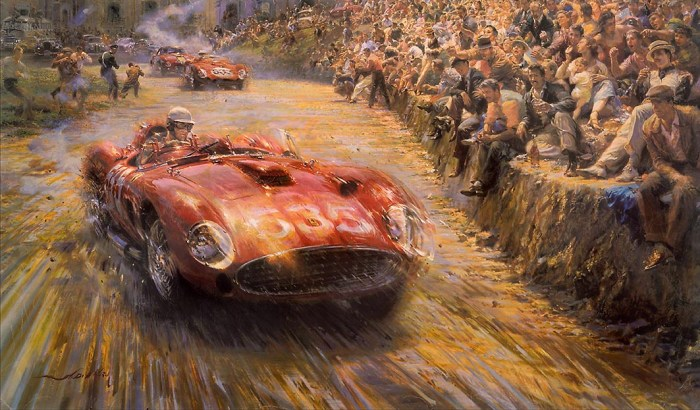 "Alfredo De La Maria Painting ""Triumph & Tragedy"" from Festivals of Speed Gallery"
