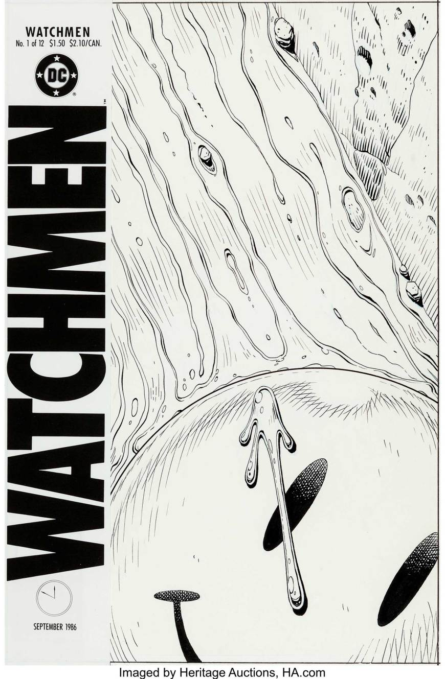 Dave Gibbons Watchmen #1 Cover Original Art (DC, 1986)