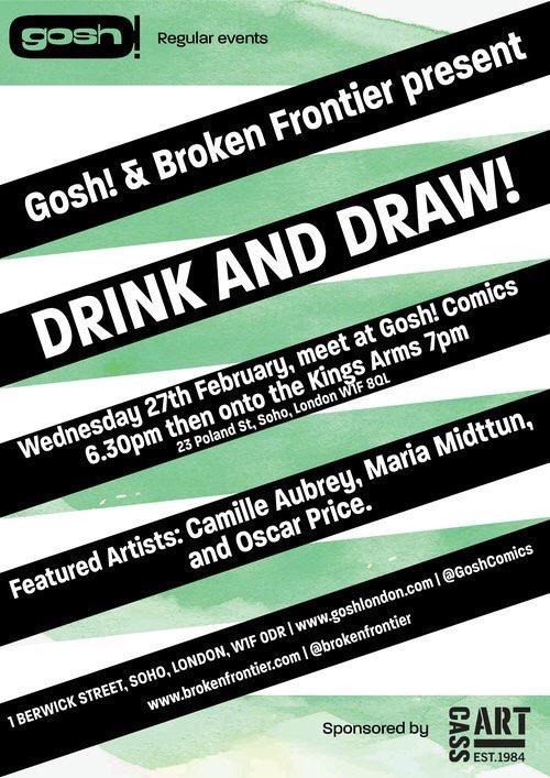 Gosh! Comicsand Broken Frontier Drink and Draw