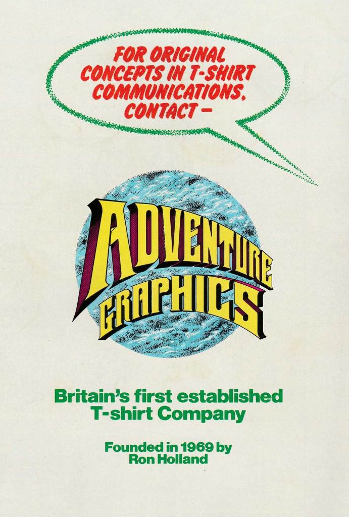 Adventure Graphics Promotional Leaflet - Back Cover