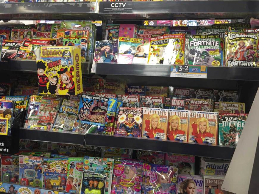 """Beano 3977 gets a great """"box out"""" promotion in key WHSmith stores across the UK"""
