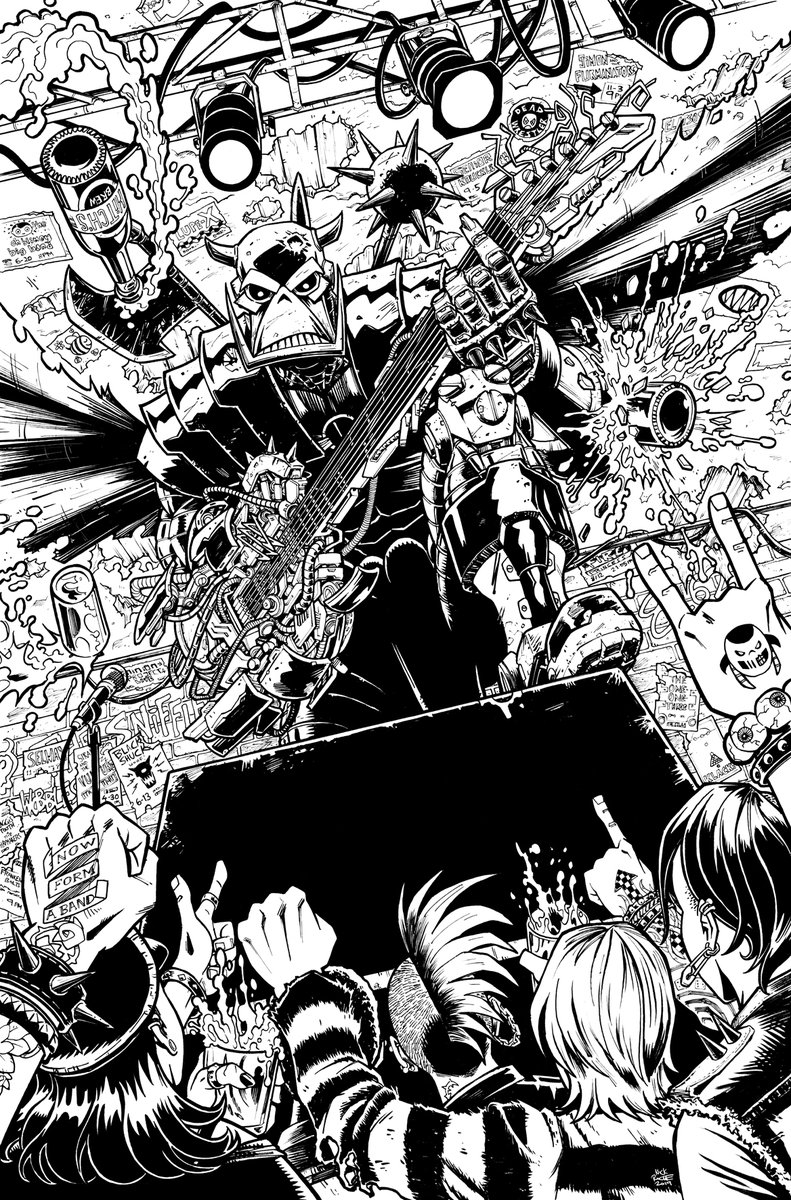 Deaths Head 2019 #1 Cover Inks by Nick Roche