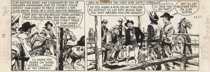 """Billy the Kid"" strip by Don Lawrence, published in Sun cover dated 20th December 1959"
