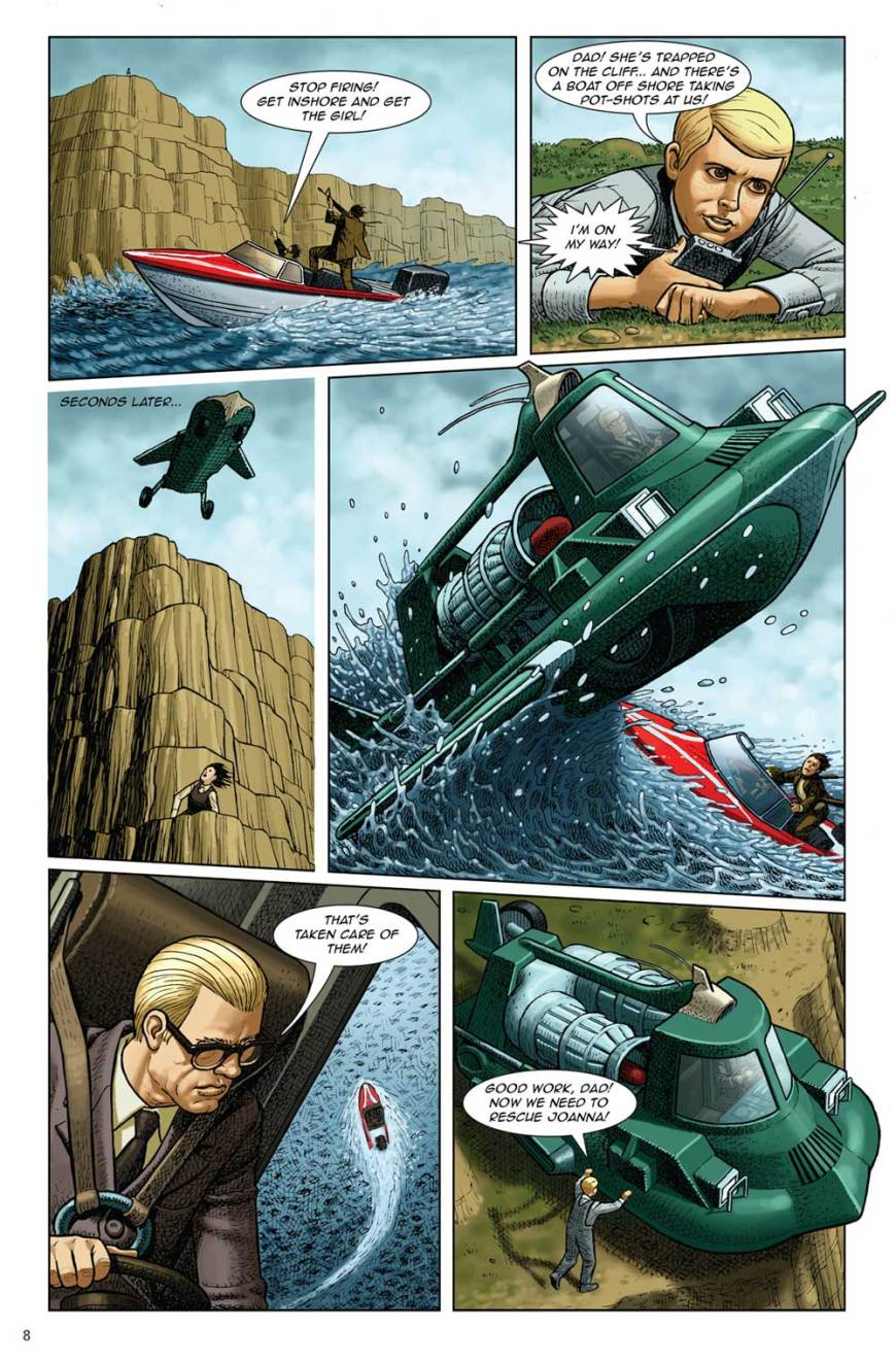 A page from the new Joe 90 comic featured in the Joe 90 Volume Four Blu-Ray collection. Art by Paul McCaffrey