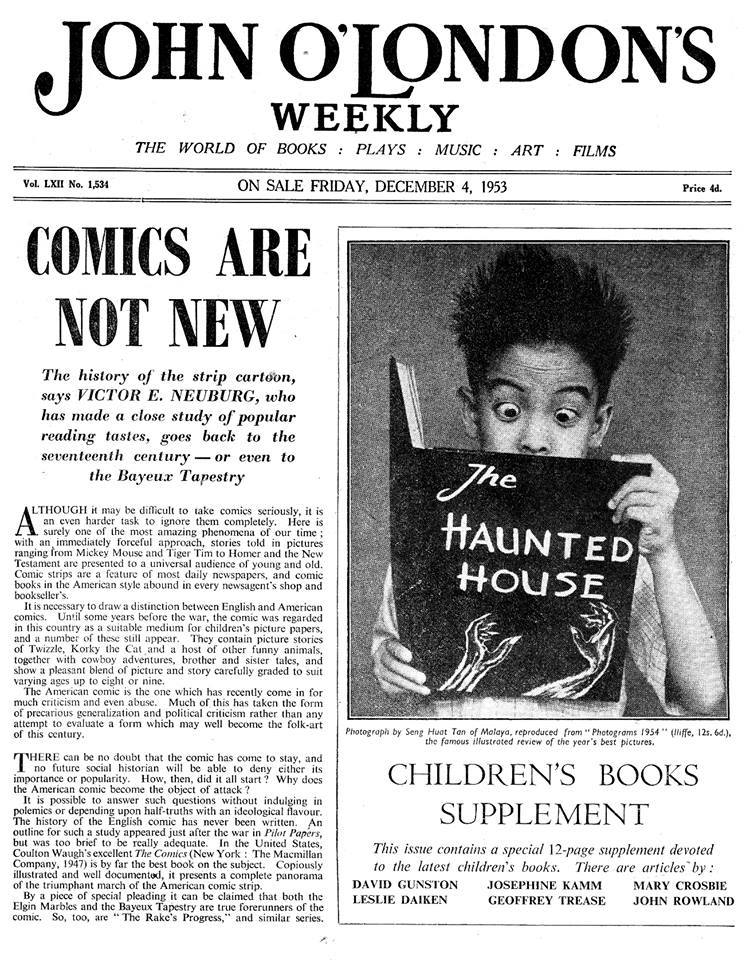 John O'London's Weekly - Comics Are Not New - 4th December 1953