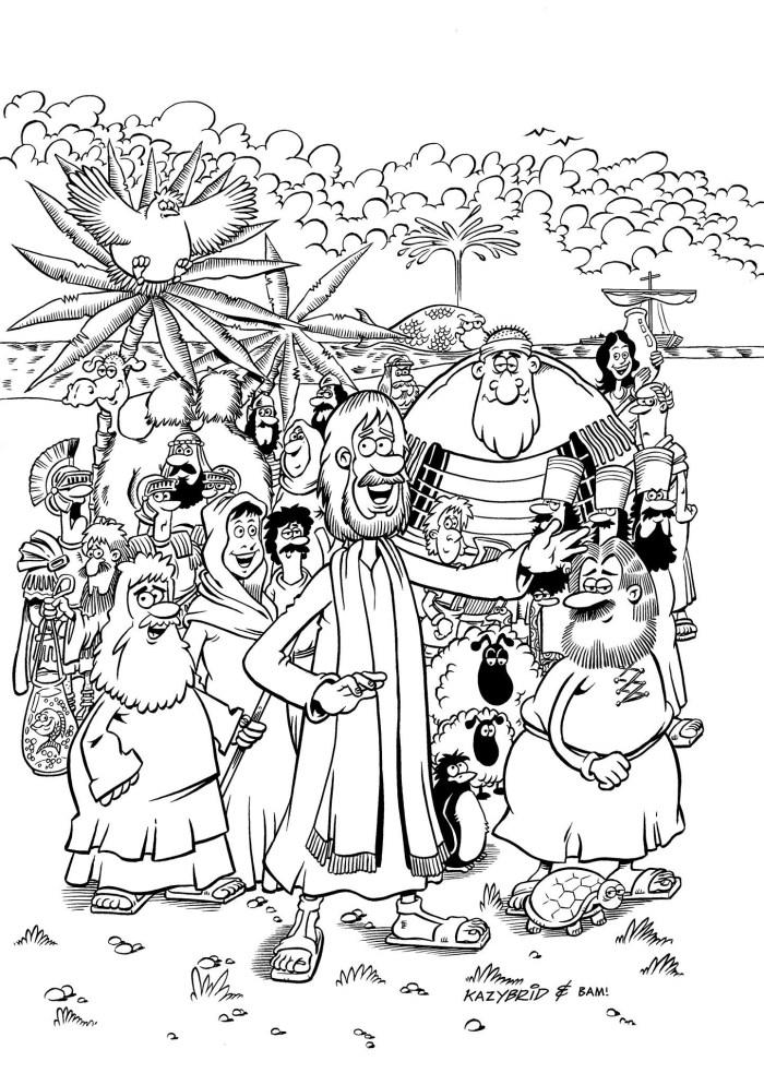 Lion Kids Comics Bible Cover - art by Mychailo Kazybrid