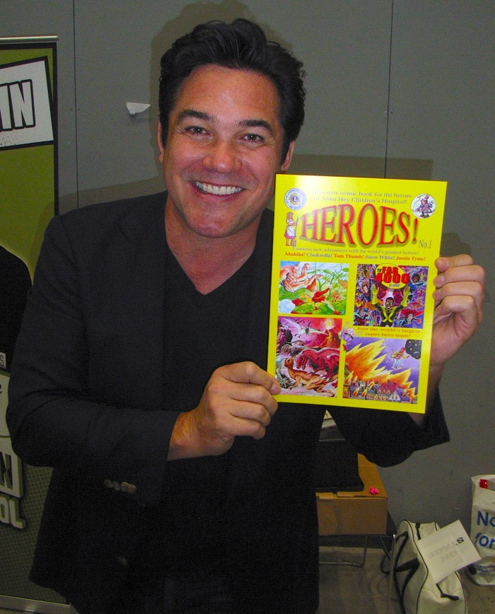 Hollywood actor Dean Cain gave the thumbs up to the Liverpool Lions Club's 'HEROES!' comic book creation at Liverpool Comic Con.