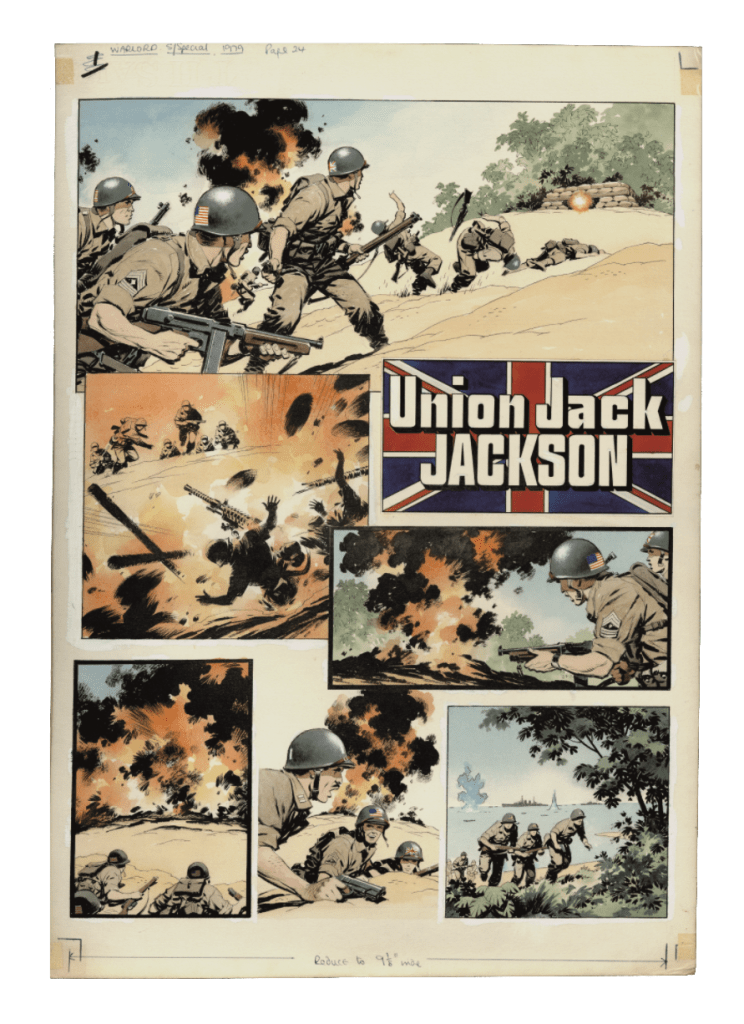 """Union Jack Jackson"" art by Ian Kennedy © DC Thomson & Co Ltd. 2019"