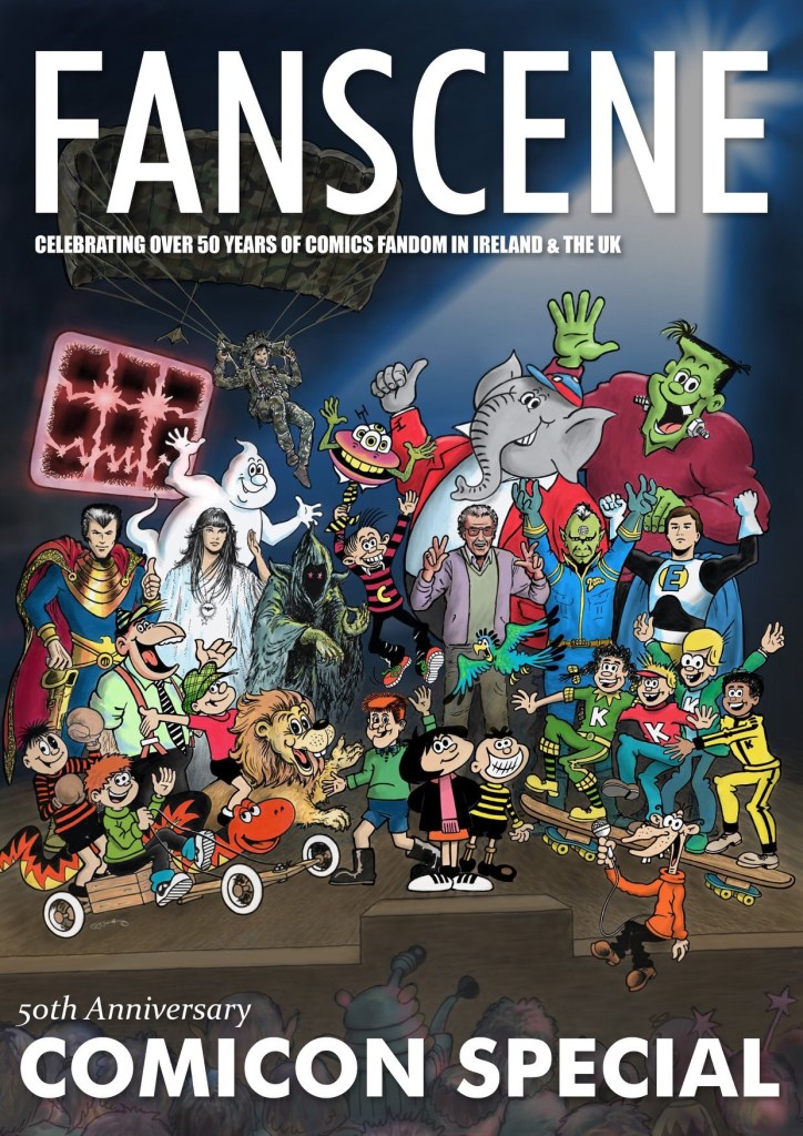 """Fanscene 2 """"We are the editors"""" cover by and copyright Mark Wayne Barrett"""