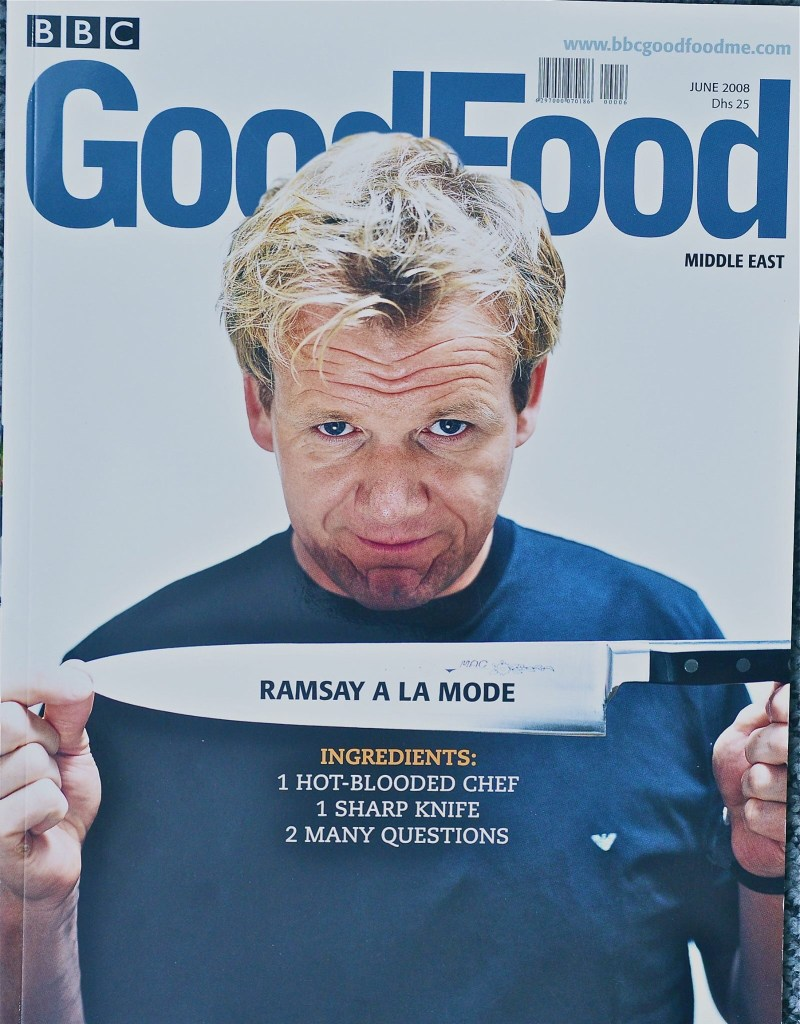 Dave's favourite cover for BBC Good Food Middle East, for June 2008
