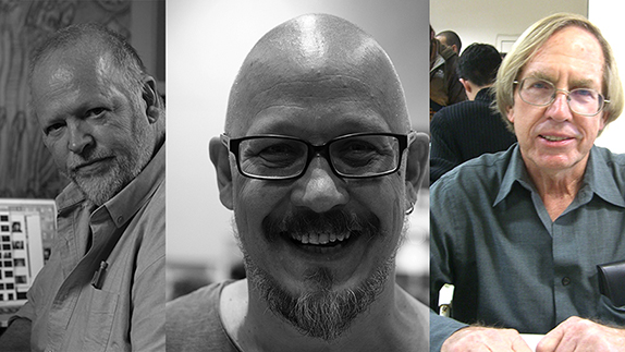 Some of the Portsmouth Comic Con 2019 guests: Will Simpson, Liam Sharp and Roy Thomas