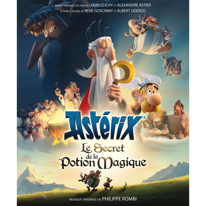 "A French poster for ""Asterix and the Magic Potion"", released in 2018"