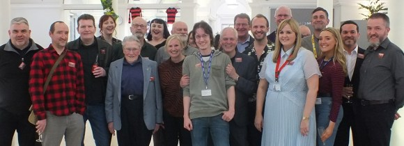 DC Thomson staff and contributors with Ian Kennedy